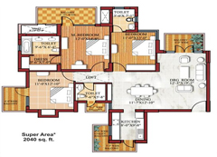 3BHK-floor-plan