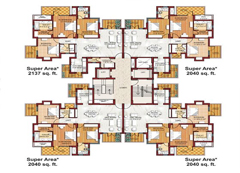 3bhk+servant-floor-plan
